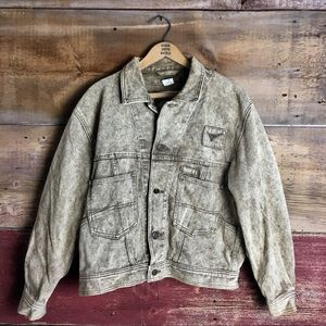 Vintage longhorn acid wash Jean Jacket